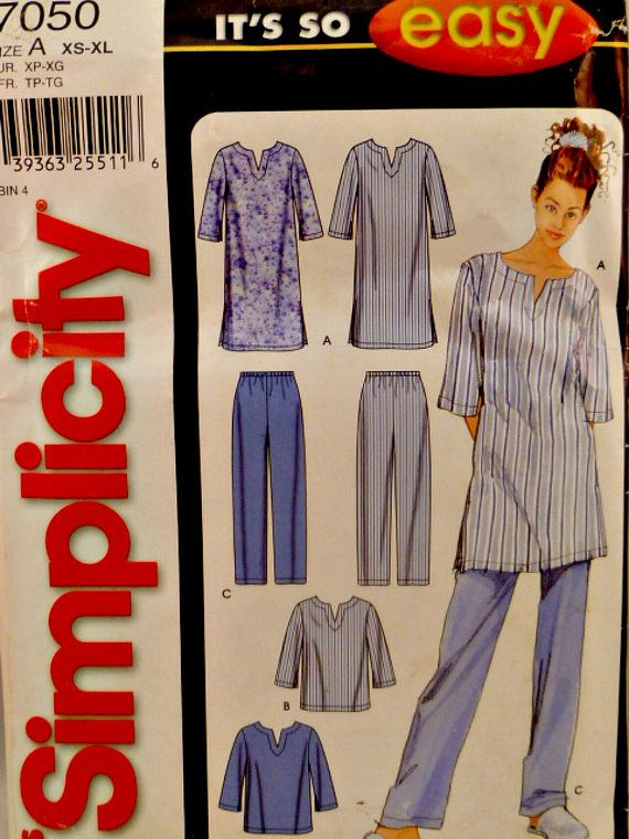 Simplicity 7050 Pattern Its So Easy Misses Pajama