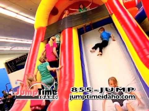 Jump Time Idaho has trampoline dodge ball, trampoline basketball, and large foam pits for children 7 and up. They also have an entire room full of blow-up jumpers and small trampolines and a fun play area foam pit for the little ones!