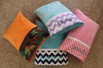 Minky Travel Pillows - Toddler Pillow - Personalized Travel Pillow - Baby Pillow - Adult Travel Pillow - Travel Pillow - Nursery Pillow - by LizzysBiz on Etsy