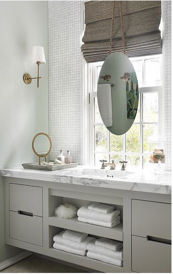 update a  bathroom with painted cabinets a neutral color like grey