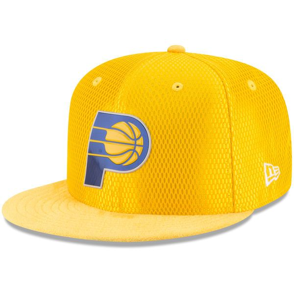 Indiana Pacers New Era NBA On-Court Original Fit 9FIFTY Adjustable Hat - Gold - $35.99