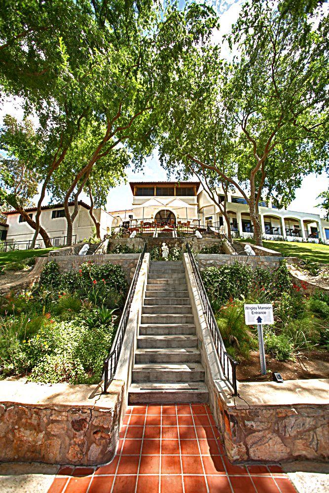 Steps Leading To The Wrigley Mansion Famous PlacesThe MansionArizona WeddingWedding LocationsWedding
