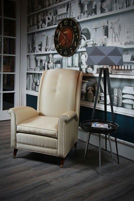 Keno Bross  Armchair - reading room - study room - wallpaper - modern - interior design - contemporer
