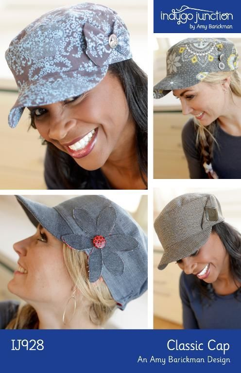 Classic Cap by Indygo Junction | Sewing Pattern - Looking for your next project? You're going to love Classic Cap by designer Indygo Junction. - via @Craftsy