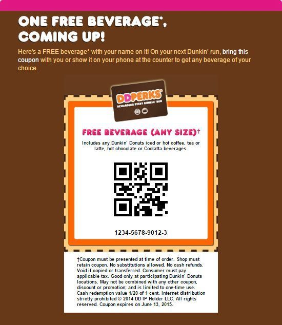 Coupons: Lot Of 10 Dunkin Donuts Up To $5.29 Off Any Size Drink Voucher -> BUY IT NOW ONLY: $13.79 on eBay!