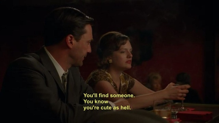 Don Draper and Peggy Olson