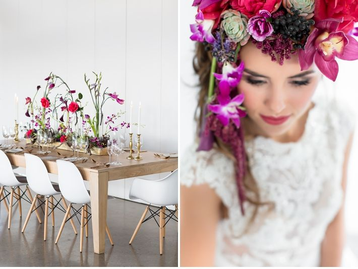 Being beautiful Workshop » Wesley Vorster Photography  @leipzigweddings   Floral headpiece / wedding table decor