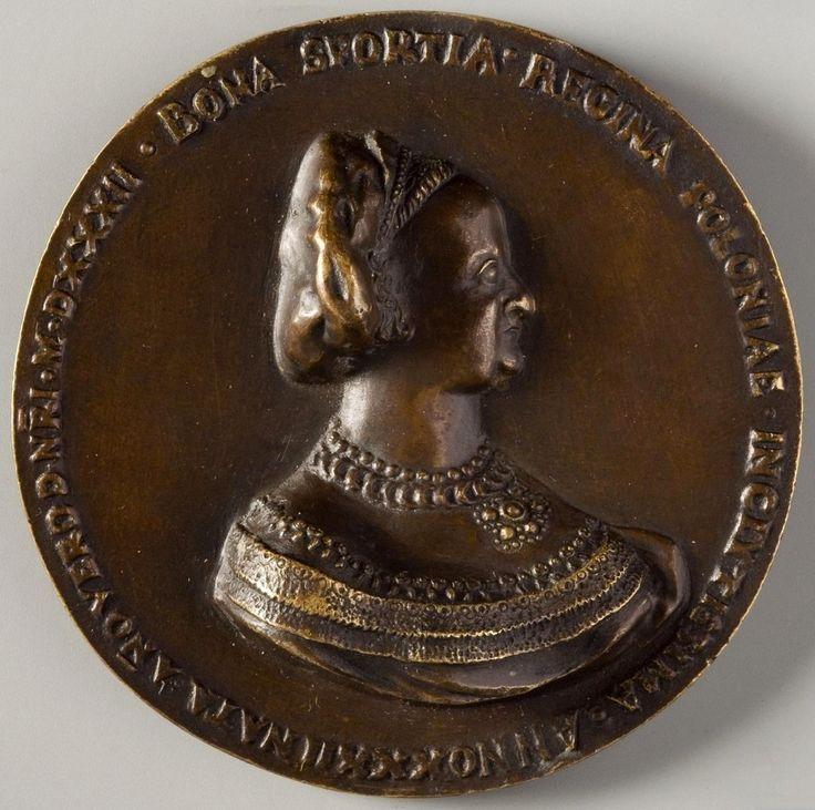 Medal of Bona Sforza by Giovanni Maria Mosca, 1532, Muzeum Narodowe w Krakowie (MNK)