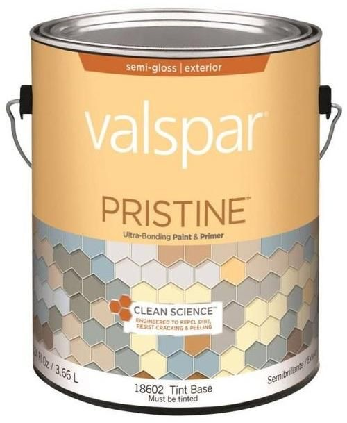 Valspar 18602 Pristine Exterior Paint & Primer, Gallon, Tint Base