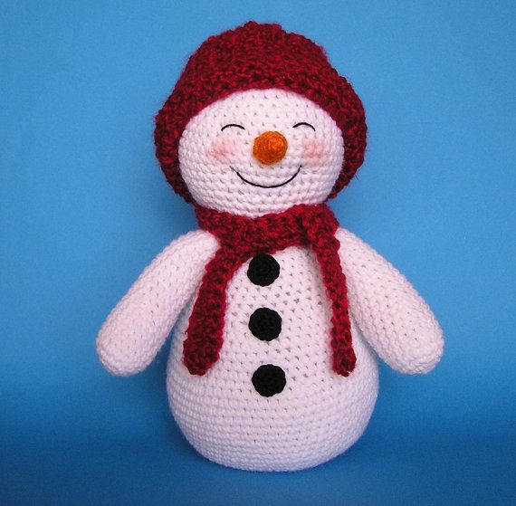 Crochet SNOWMAN and FAWN pattern by bvoe668 on Etsy