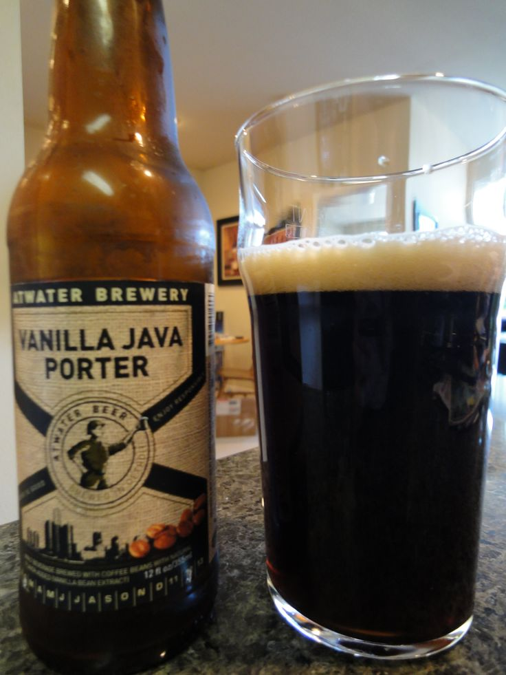 "Atwater Brewery - Vanilla Java Porter - Delicious dark beer that is made in ""The D.""  #Detroit #Michigan"