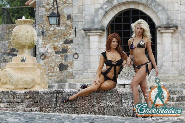 MDC Swimsuit Shoot at Casa de Campo in 2010 | Miami Dolphins Cheerleaders