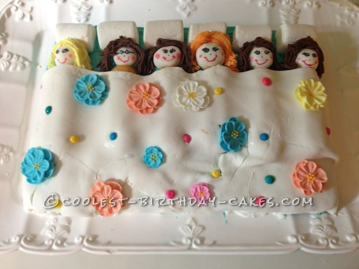 Slumber Party Cake for my 7 Year Old ... This website is the Pinterest of birthday cakes