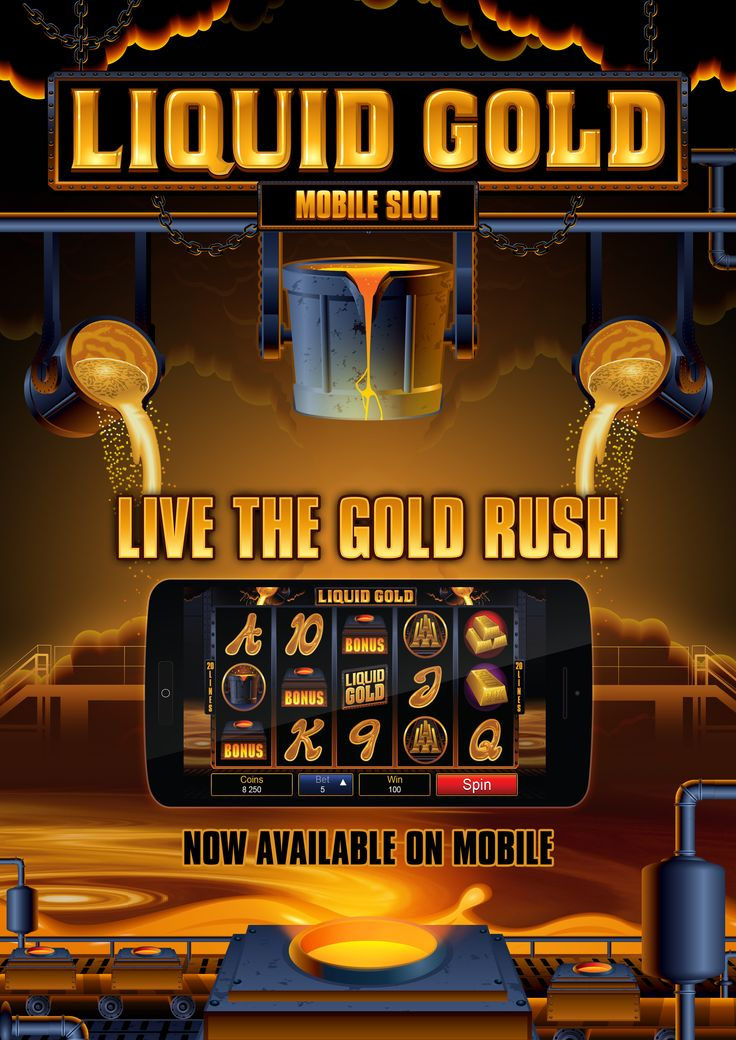 Liquid gold mobile slot game