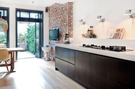 Donkere eiken houten droomkeuken   Inrichting-huis.com