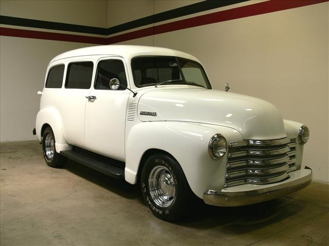 1949 Chevrolet Suburban  Price: $45,000 VIN: N342243CAL  Stock #:     8 Cylinders RWD SUV  Transmission: Automatic  Color: White  57,747 miles