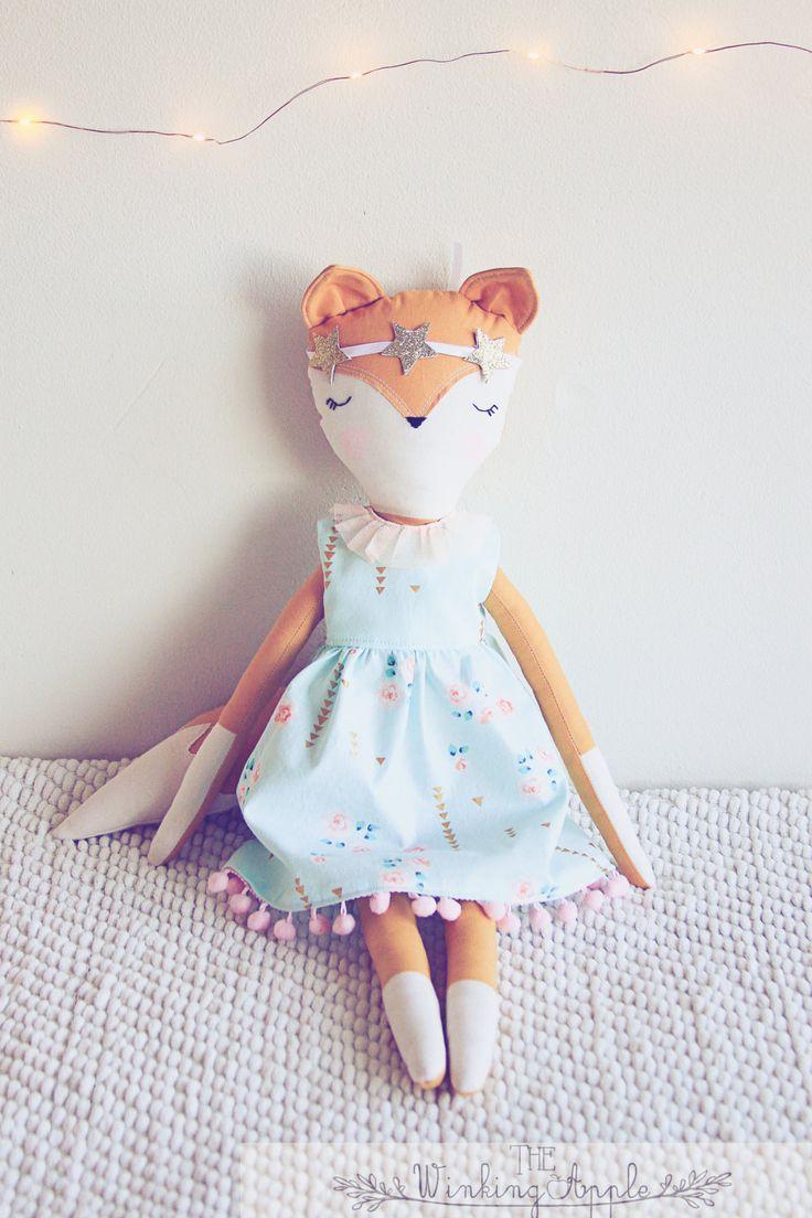 Renard de poupée peluche Fox Fox doux en par TheWinkingApple