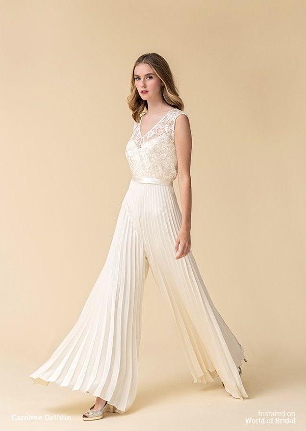 0de0a01d5a3 40+ Jumpsuit Wedding Dresses Ideas 13 – Fiveno