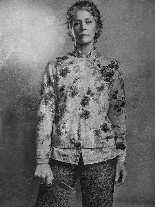 the-walking-dead-6-temporada-silver-portrait-melissa-mcbride-carol-peletier