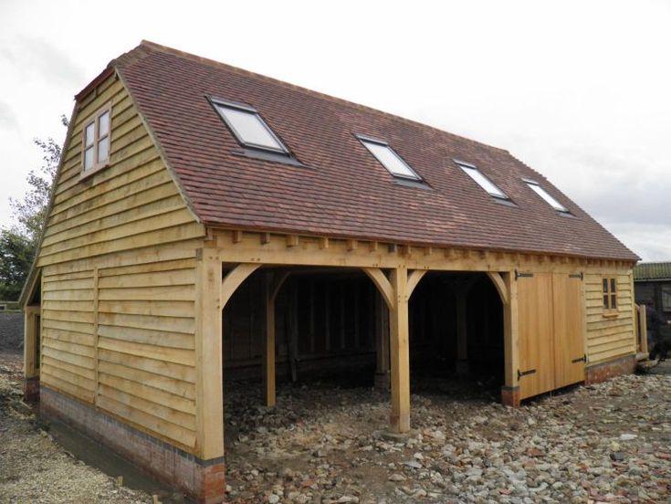 Oak Garages | Fully Bespoke Oak Frame Timber Garages | Oakley Framing