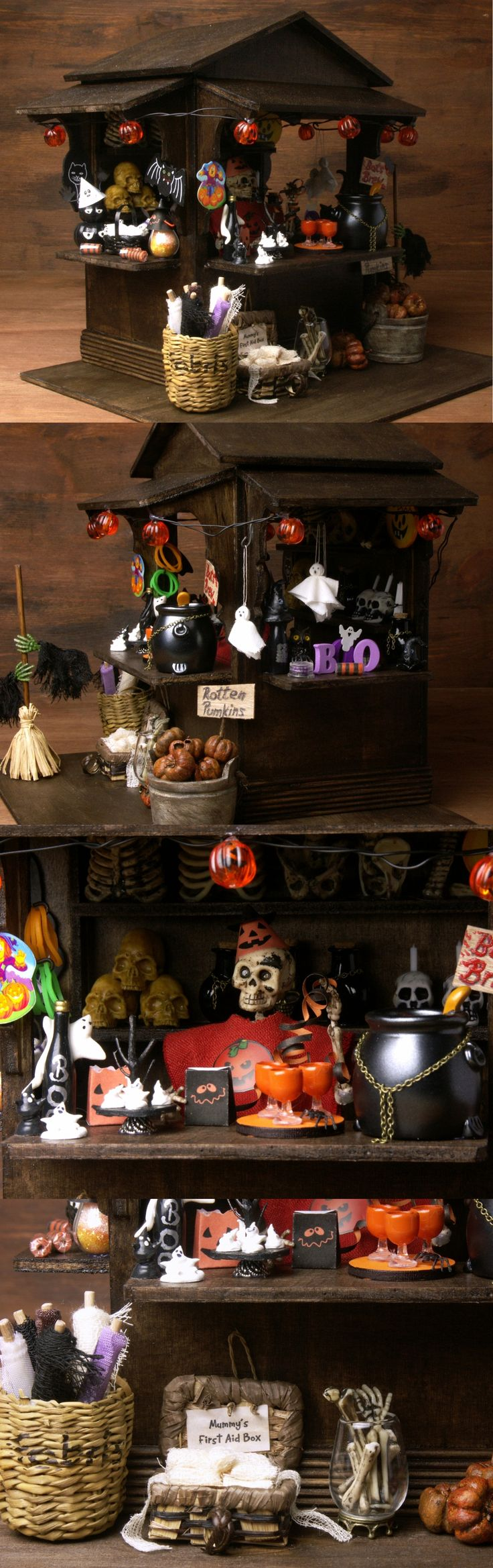 Illuminated Little Halloween Shop for your Miniature Scene by DinkyWorld on Etsy