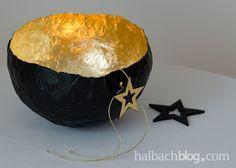 halbachblog I Windlicht I Pappmache I Schlagmetall I Wohlige Lichtakzente für heimelige Stunden in der dunklen Jahreszeit