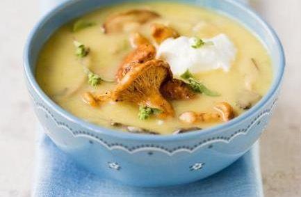 Суп пюре картофельный с беконом