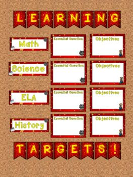Back to School Classroom Decor Hollywood Movie Themed Learning Objectives and Assignments Bulletin Boards