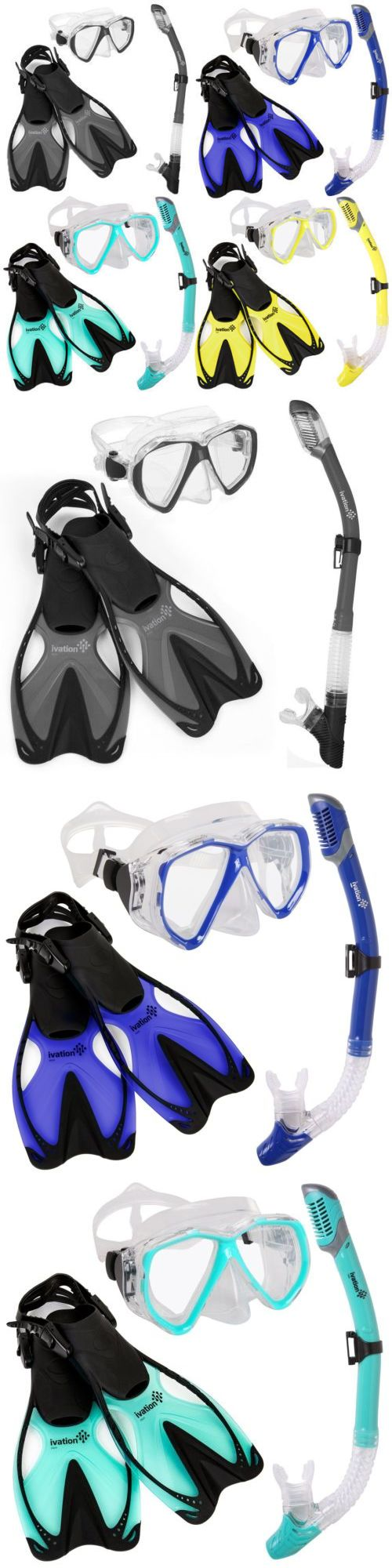 Snorkels and Sets 71162: Snorkel Gear - Snorkeling Mask, Dry Snorkel, And Fins Set - Diving, Swimming -> BUY IT NOW ONLY: $52.99 on eBay!