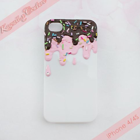 This listing is for your very own Kawaii x Couture custom Ice Cream Sundae decoden phone case! This is NOT a deposit, it is the full payment. Your case will be made to order and created to your heart's desire! This is one of our signature & exclusive styles, beware of imitations! ;)  It will ta...