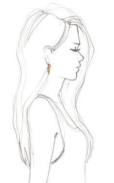 Bildergebnis für Skizze eines Mädchens von hinten