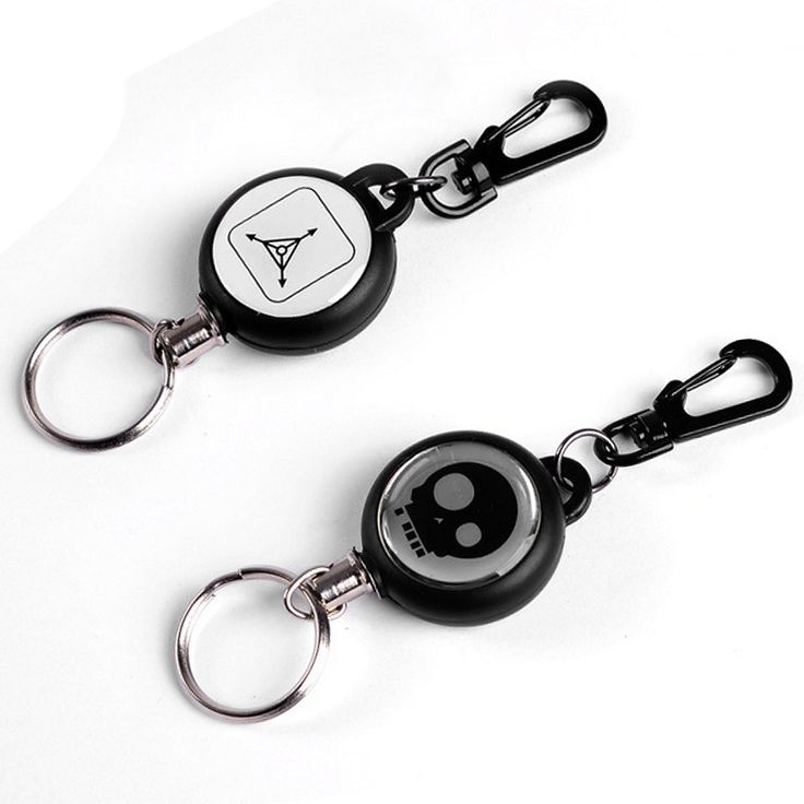 Creative Safety Anti-lost Outdoor TAD Steel Rope Burglar Keychain TAD Skull Retractable Quickdraw Keyring Keychains