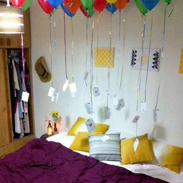 25+ Best Ideas About Birthday Balloon Surprise On