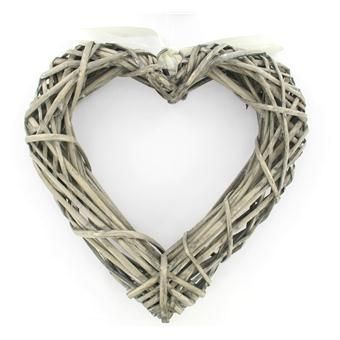 Hobbycraft Wicker Heart Wreath 25 x 25 cm