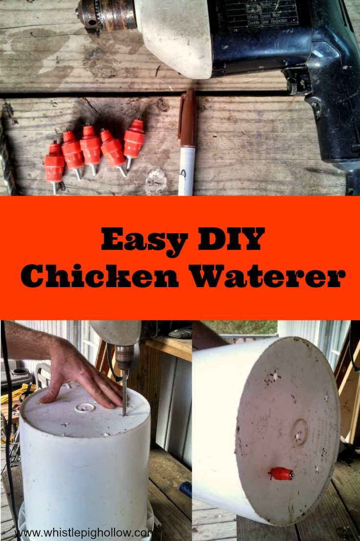 The Bestest and Cheapest Chicken Waterer {DIY}   Whistle Pig Hollow