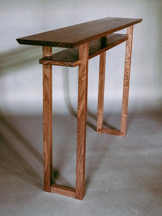 Handmade Wood Console Vanity Table Narrow Console Table Hallway Table Sofa Table Mid Century Mo Modern Wood Furniture Narrow Console Table Wood Sofa Table