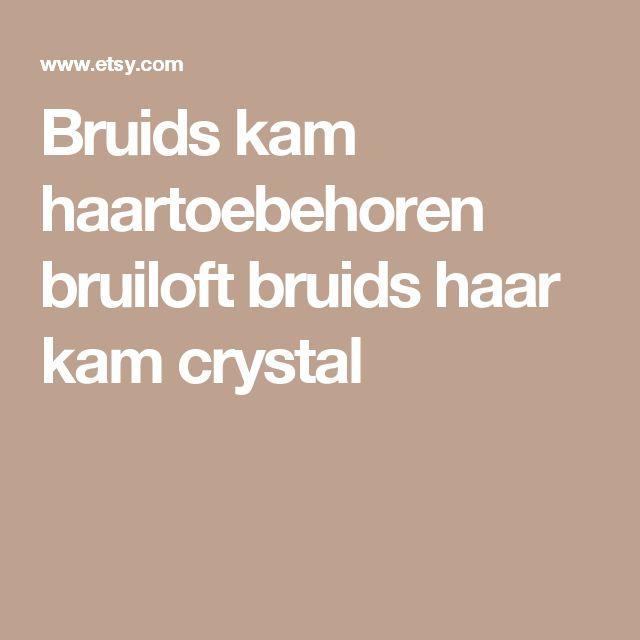 Bruids kam haartoebehoren bruiloft bruids haar kam crystal