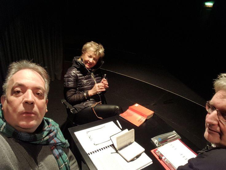 """Arbeit an der der neuen Produktion """"Zimmerschlacht"""" im Theaterkeller Sindelfingen..."""