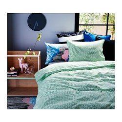 IKEA - RÖDVED, Housse de couette et taie(s), Deux places/grand deux places, , Mélange polyester et coton limitant le rétrécissement et le froissage du tissu.