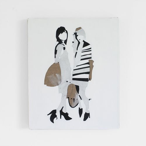 black and white fashion illustration / erin flannery