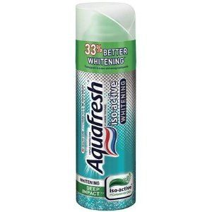 Aquafresh Iso-Active Toothgel, Fluoride, Whitening Deep Impact, Foaming Gel, 4.3 oz. by Aquafresh. $4.02. Aquafresh Iso-active foaming deep impact toothpaste aids in the prevention of dental cavities.. Penetrates hard to reach places to protect between teeth.. Breakthrough gel transforms into an active foam.. Provides Aquafresh Triple Protection for healthy gums, strong teeth, and fresh breath.. Triple protection. Healthy gums. Strong teeth. Fresh breath. 33% better wh...