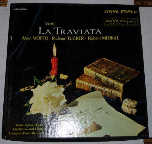 1961 Verdi La Traviata Rome Opera House RCA 3 Set Album Records LPS | eBay