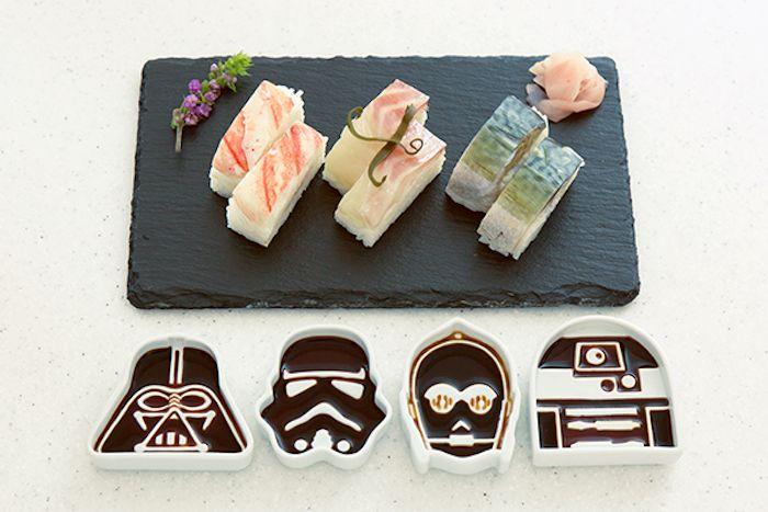 Des récipients créatifs pour sauce soja qui rendent hommage à Star Wars