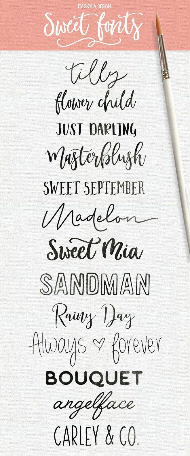 Sweet fonts Fancy fonts, Handwritten fonts, Cricut fonts