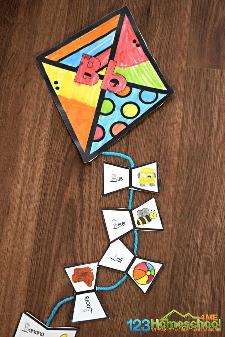 FREE Alphabet Kites Alphabet activities Preschool