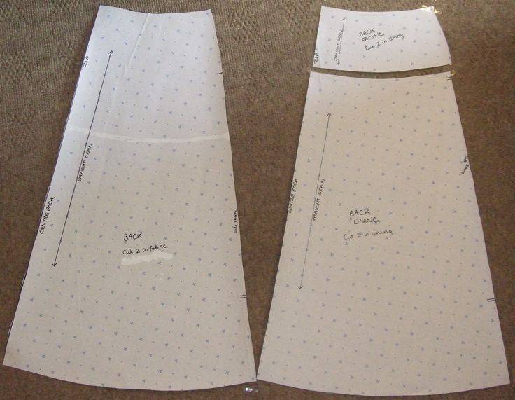 make your own custom A-line skirt pattern