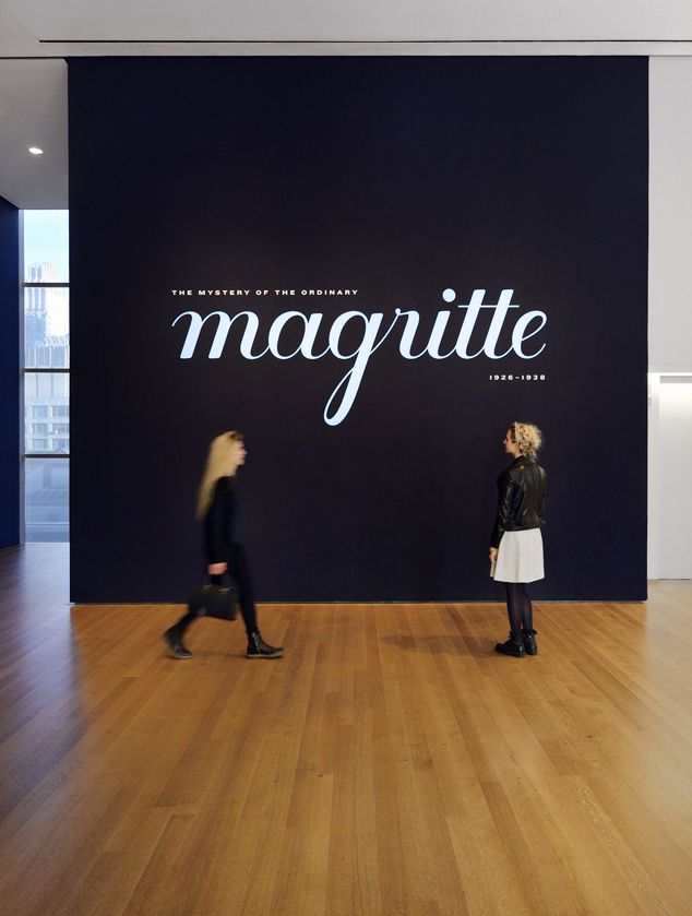 magritte inspired typographic design for MoMA magritte exhibition - image links to