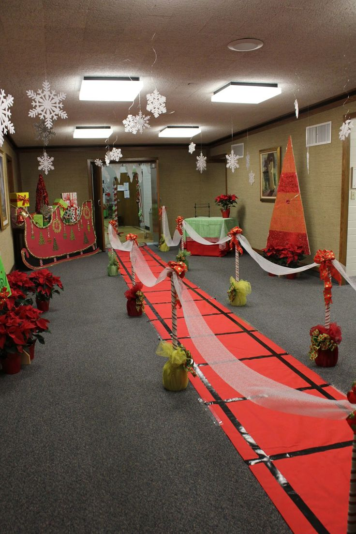 Polar Express Party - red table cloths & black tape = amazing tables for Cameron's birthday