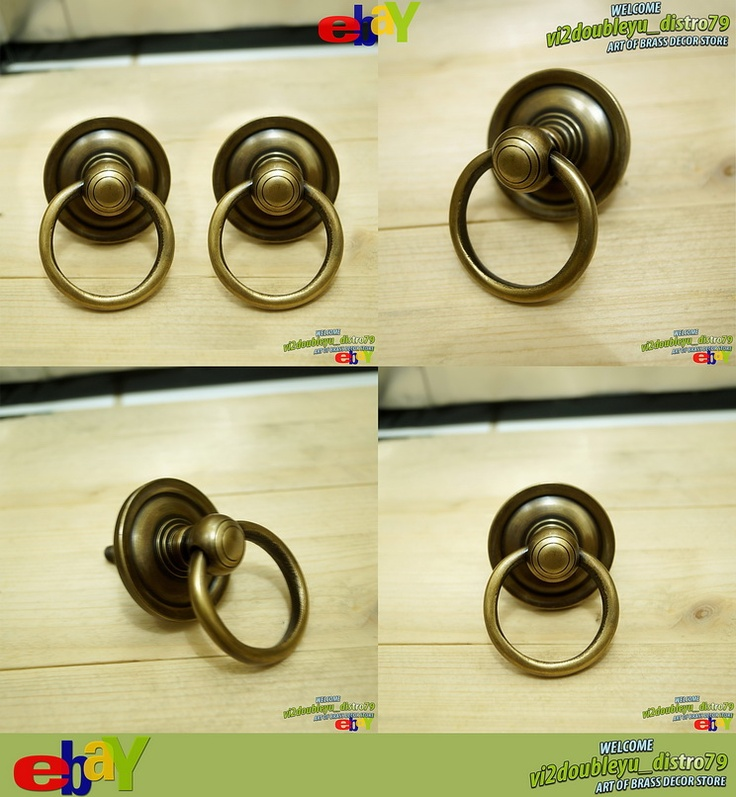 LOT OF 2 PCS Antique Vintage SOLID BRASS Big ROUND Pull KNOB DRAWER, unused and GREAT GIFT for your home decor. #flyer #knob #drawer #Brass #Antique #Vintage #Home_decor