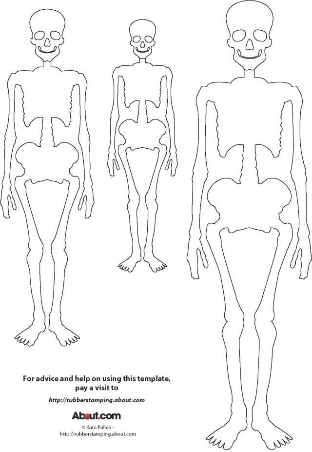 Here's a Skeleton Template for Your Halloween Crafts: Skeleton Template for Rubber Stamping and Other Halloween Craft Projects